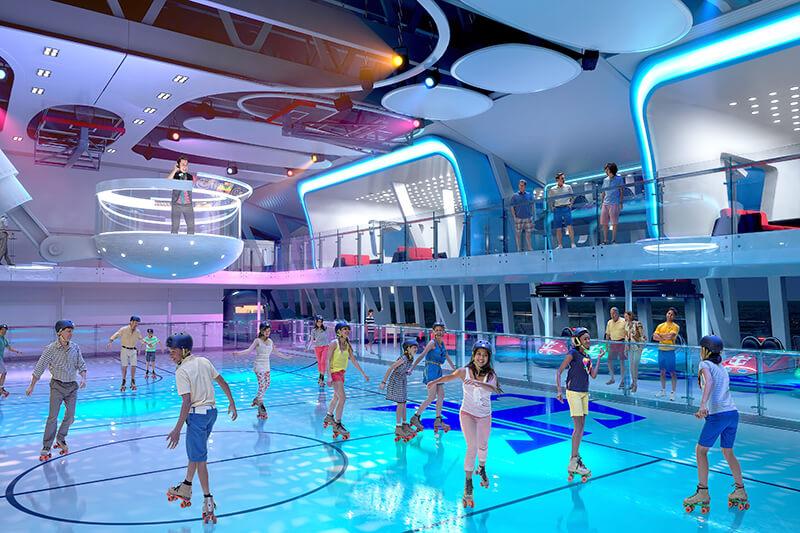 Trượt băng trên du thuyền tàu biển 5 sao